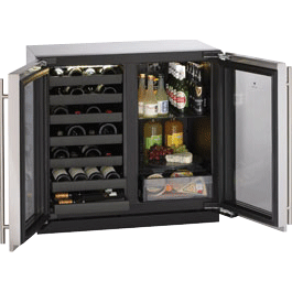 U-Line Wine Refrigerator/Beverage Center 3036BVWC Wine Captain Model