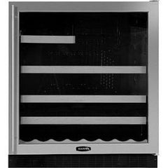 "30"" Beverage & Wine Refrigerator, Black cabinet w/ black frame glass door, Right hinge (8SBAREBBG-L /R)"
