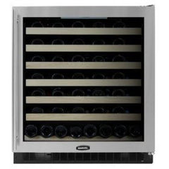 74 Bottle Wine Refrigerator, Black cabinet w/ stainless steel frame glass door, (8SWCE-BS-G-L /R)