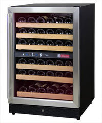 Allavino MWR-542-SSL - 51 Bottle Dual Zone Wine Refrigerator - Left Hinge