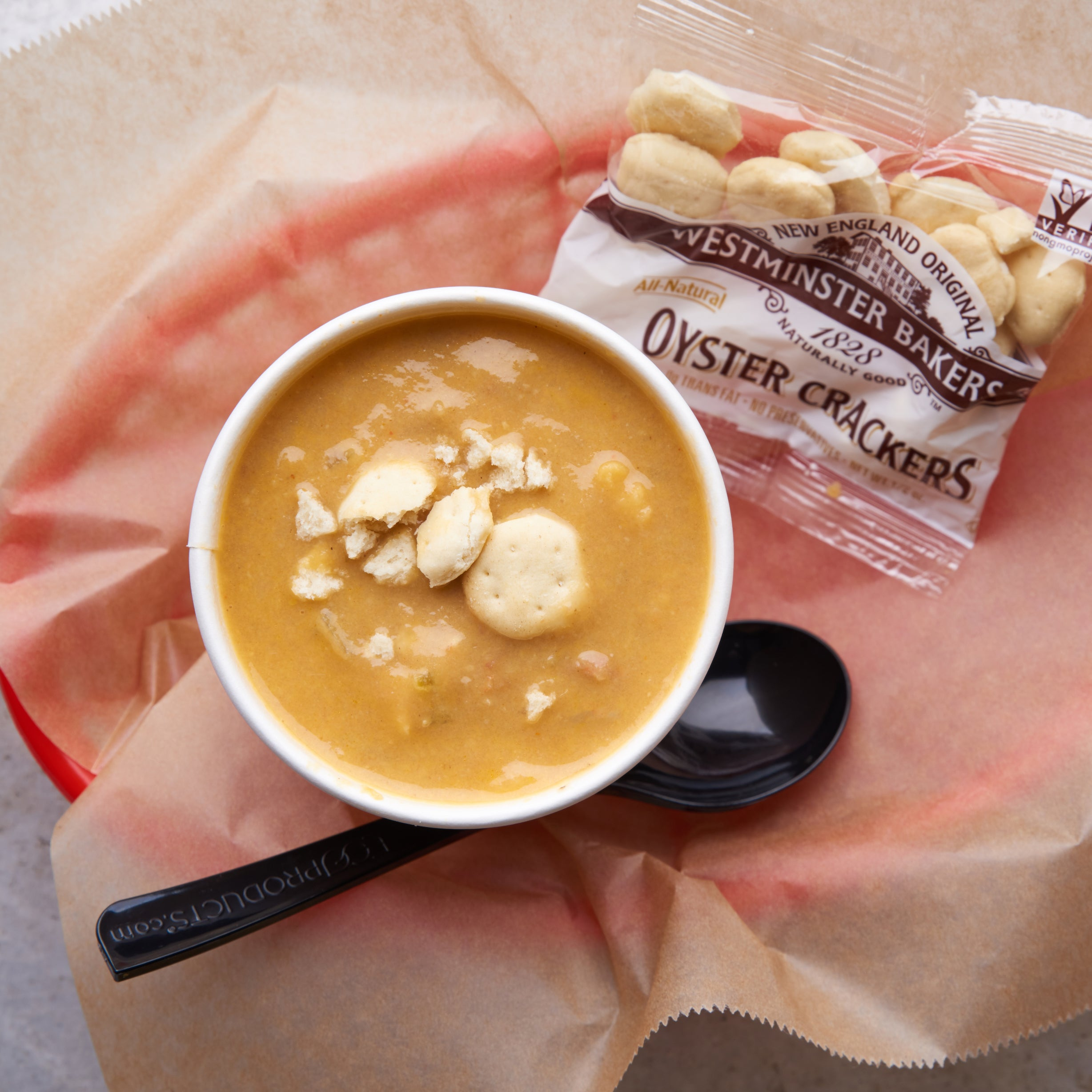 lobster bisque in a cup