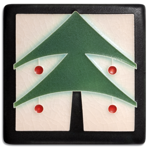 4x4 Christmas Tree Peppermint - Motawi Tileworks