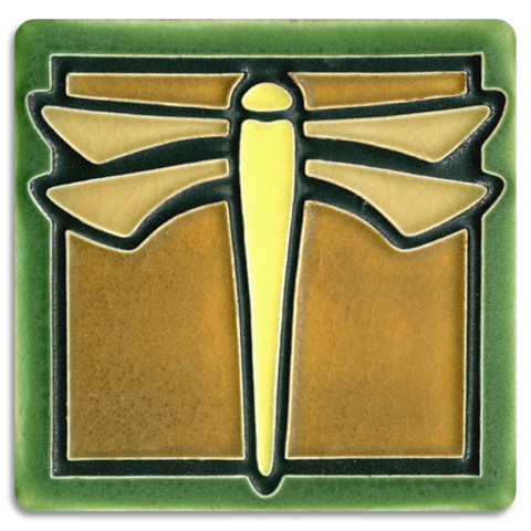 4x4 Dragonfly Green - Motawi Tileworks