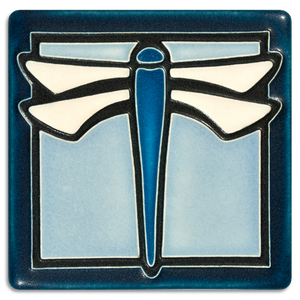4x4 Dragonfly Light Blue - Motawi Tileworks