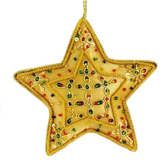 Embroidered Star Ornament