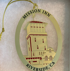 Mission Inn Bell Tower Christmas Ornament