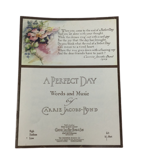 A Perfect Day Sheet Music
