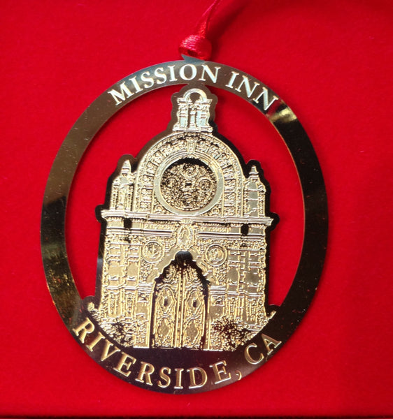 Mission Inn Chapel Entrance Christmas Ornament