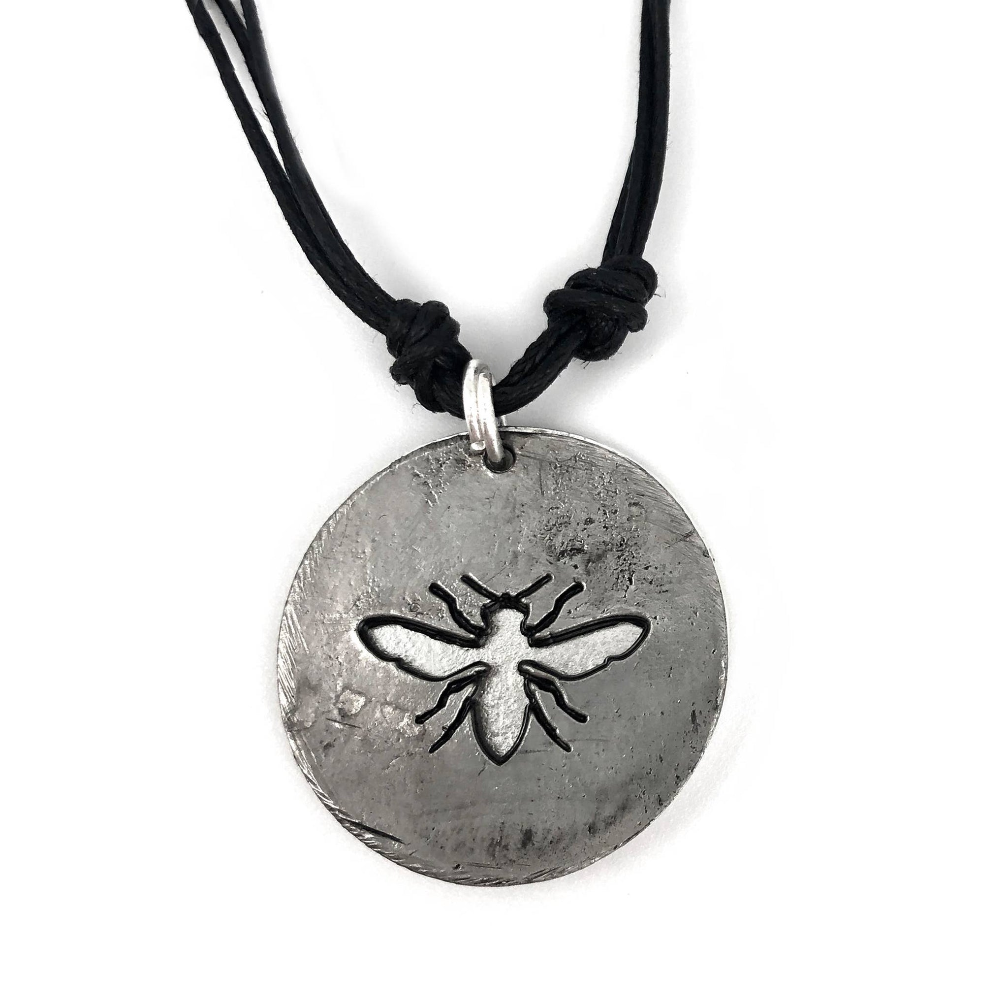Pewter Necklace - Bee