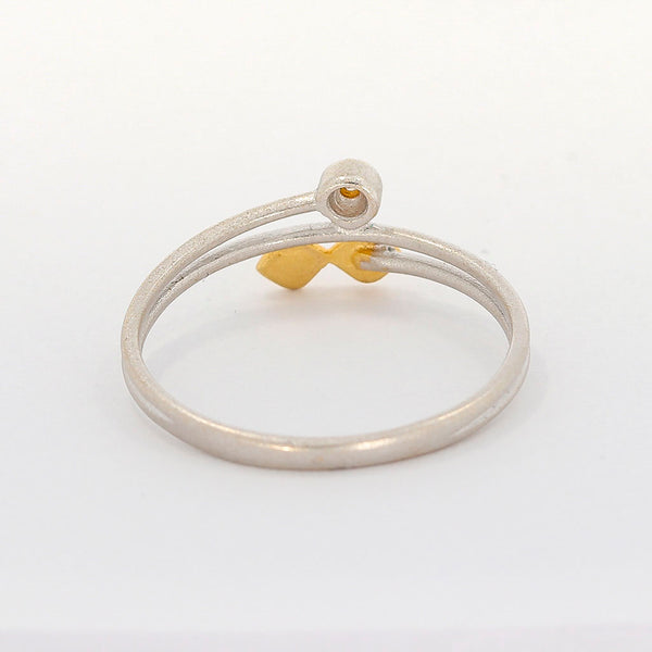 Diamant Damen Ring 18 Kt 750/-  in Bicolor Vintage