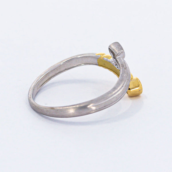 Brillant Damen Ring 18 Kt 750/- Bicolor Vintage