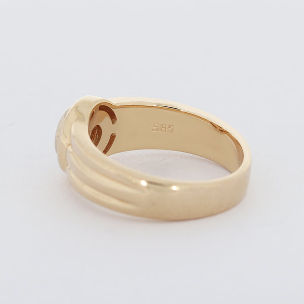 Brillant Damen Ring 14 Kt 585/- Solitär Gelbgold Vintage