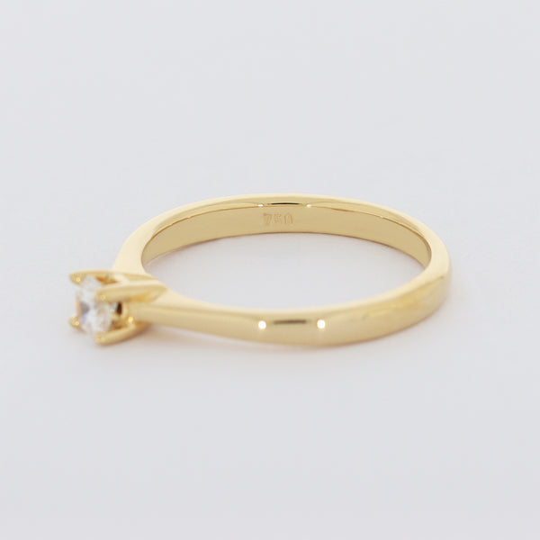 Brillant Damen Ring  18 Kt 750/- Solitär Gelbgold Vintage