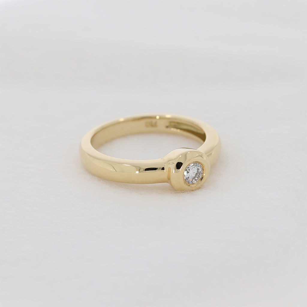 Brillant Ring ´ROSI´ in Gelbgold