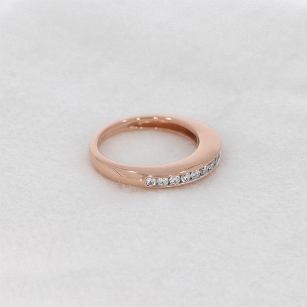 Brillant Damen Ring 18 Kt 750/- Roségold Memory