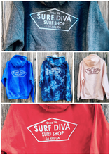 Load image into Gallery viewer, Surf Diva Surf Shop - HOODIE GREY