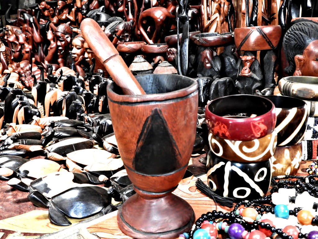 Handmade carved Mortar and Pestle