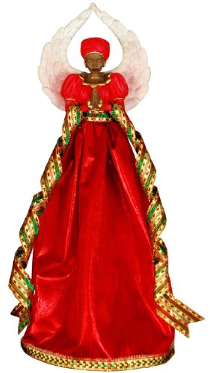 Serenity (Red): African American Christmas Tree Topper - Ufumbuzi - Home