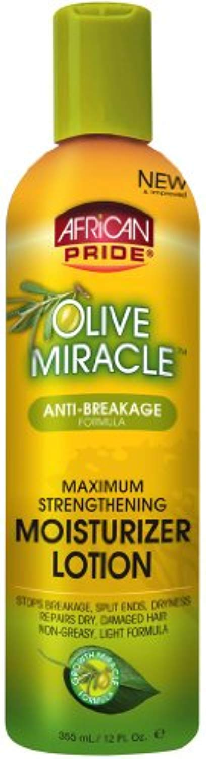 African Pride Olive Miracle Maximum Strengthening Moisturizer Lotion 12 oz. (Pack of 6) - Ufumbuzi - Home