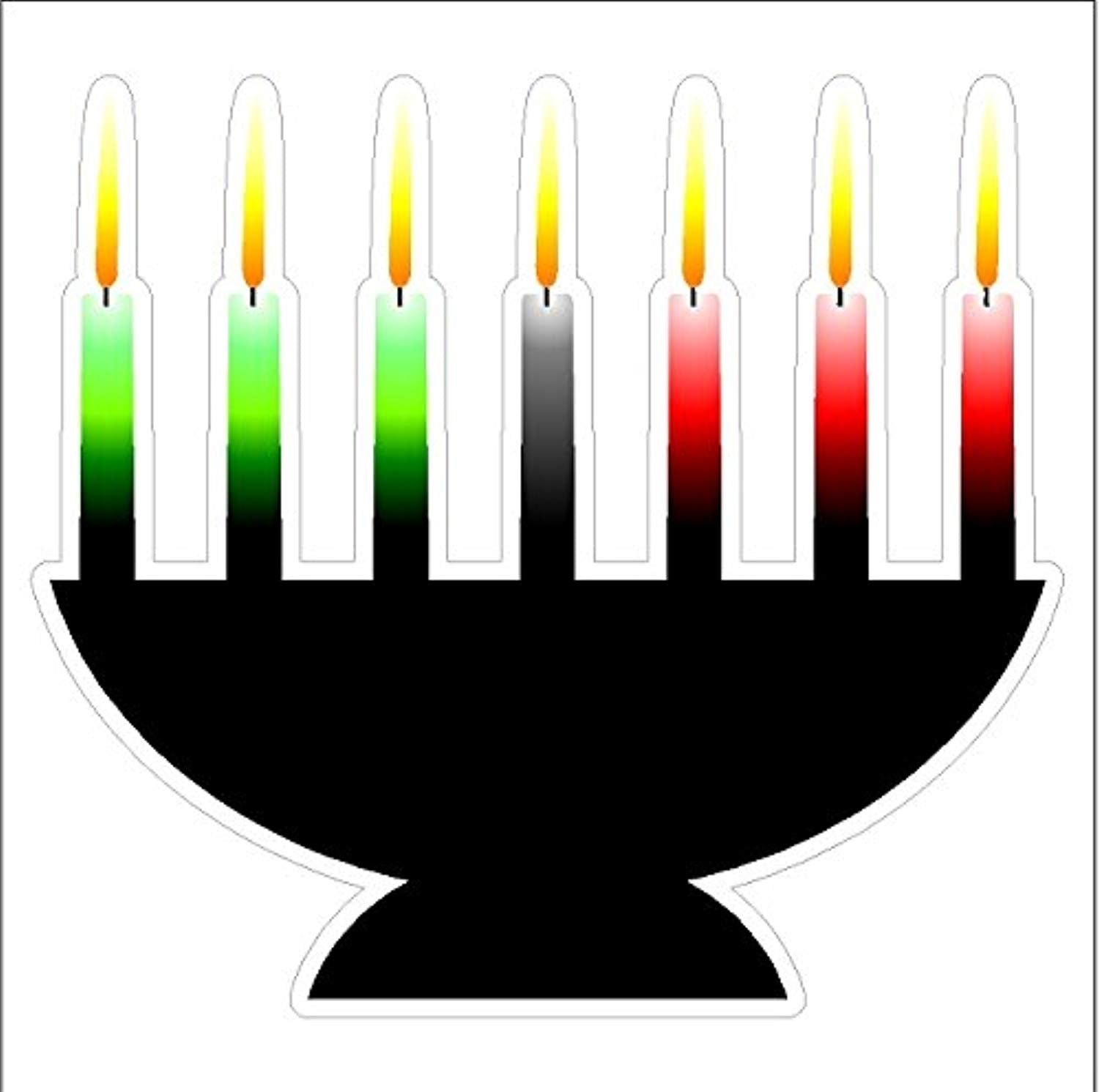 Kwanzaa Candles Static Cling Window Decal Removable and Reusable Holiday Cling - Ufumbuzi - Home
