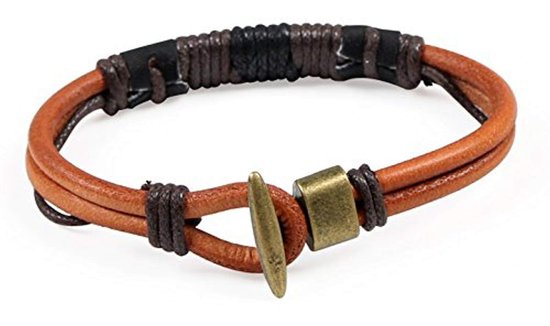 Areke Mens Handmade Rope Braided Leather Bracelets Bangle Wrap for Womens Boys Girls - Ufumbuzi - Home