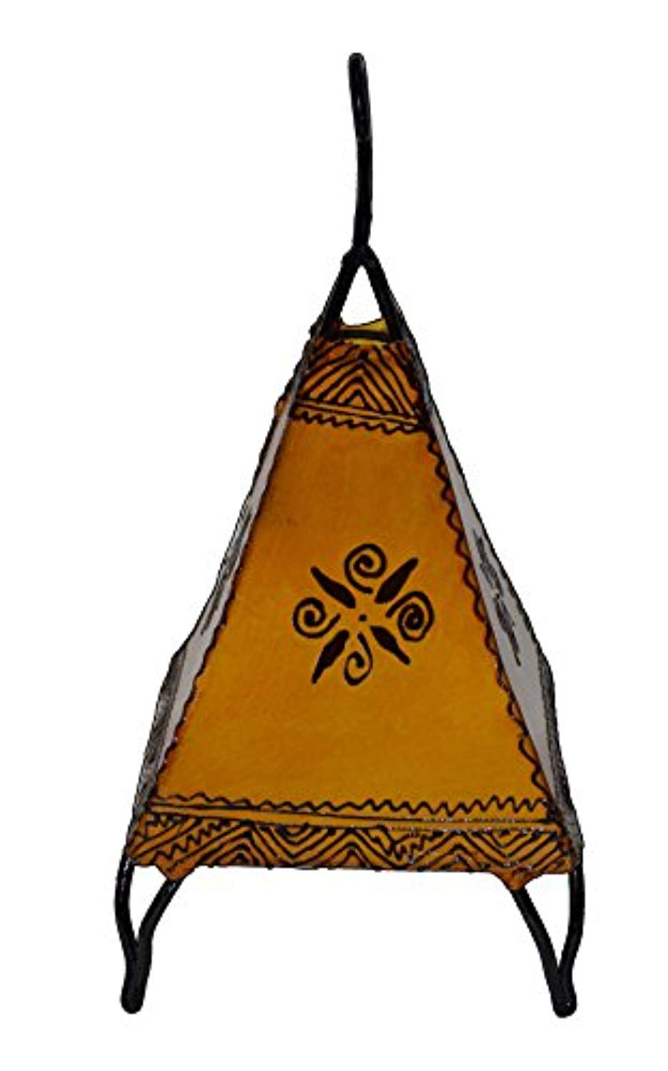 Henna Lamps & Sconces Moroccan Hand made Leather lamp henna tattoo African Yellow