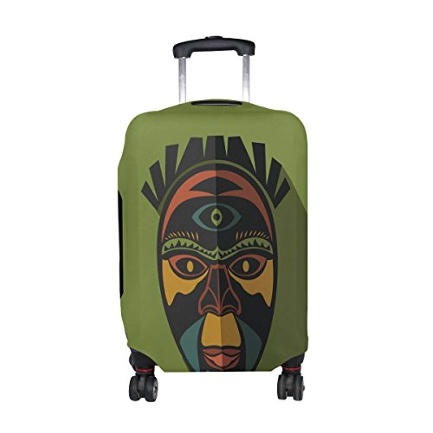 African Art Tribal Print Travel Luggage Protector Baggage Suitcase Cover Fits 18-20 Inch Luggage