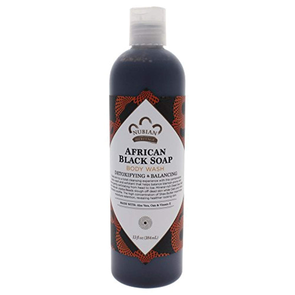 Nubian Heritage Body Wash, African Black Soap, 13 Fluid Ounce