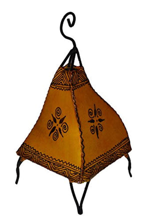 Henna Lamps & Sconces Moroccan Hand made Leather lamp henna tattoo African Yellow - Ufumbuzi - Home