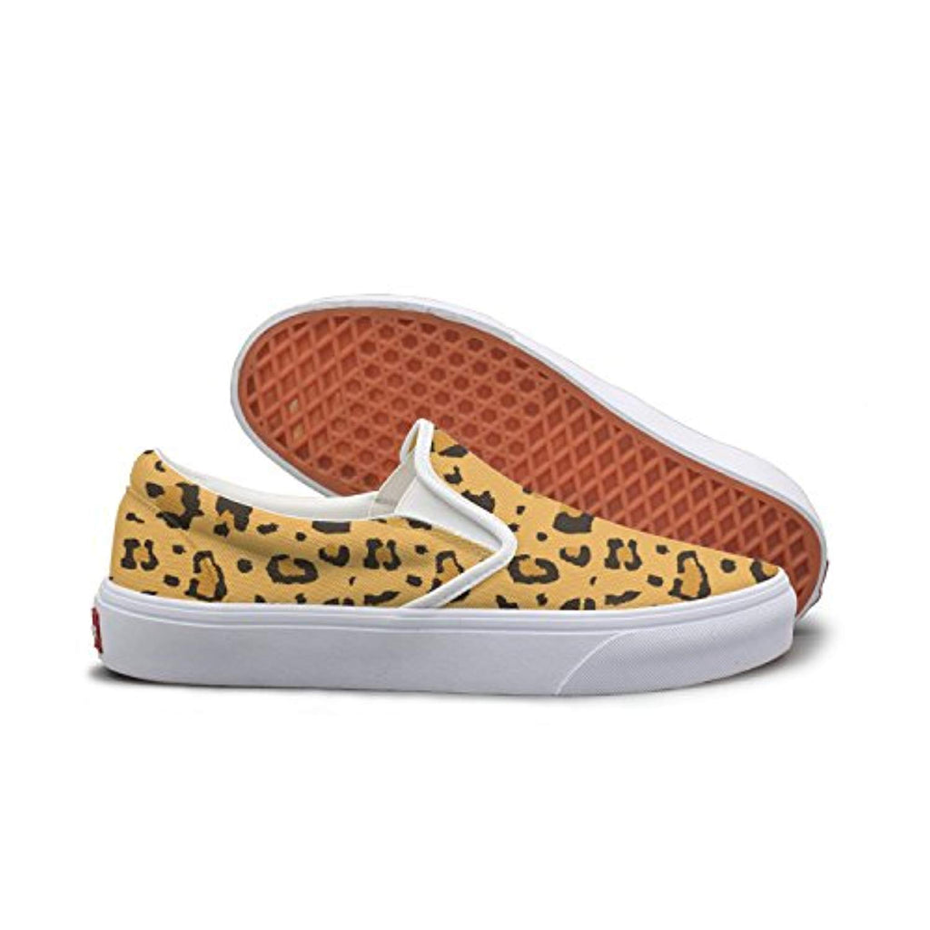 SEERTED African Cheetah Leopard Fur Canvas Sneakers Women