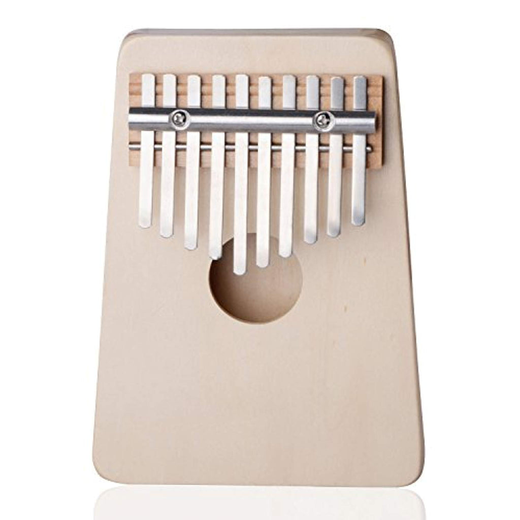 Mibra, 10 Key Birch Finger Thumb Piano Kalimba Likembe Sanza Thumb Piano YUIOP African Portable Music Instrument Pocket Size Beginners Friendly Supporting Musical Notation (Spruce white)
