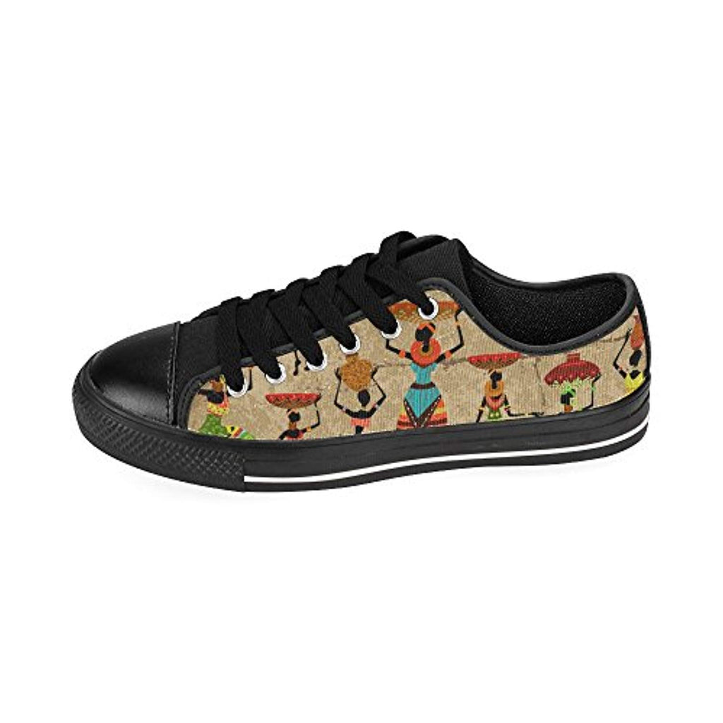 D-Story Custom African Women Mens Classic Canvas Shoes Fashion Sneaker - Ufumbuzi - Home