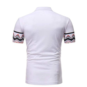 Litetao African Printed Tee, Men Boy Polo Tops Short Sleeve Muscle T-Shirt Casual Golf Blouse - Ufumbuzi - Home