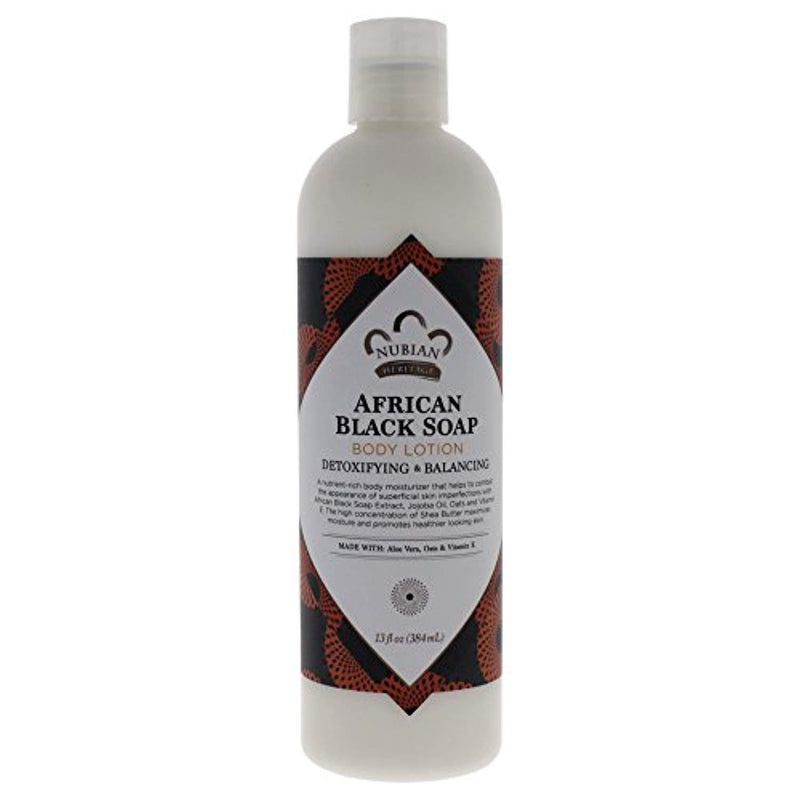 Nubian Heritage Lotion, African Black Soap, 13 Fluid Ounce - Ufumbuzi - Home
