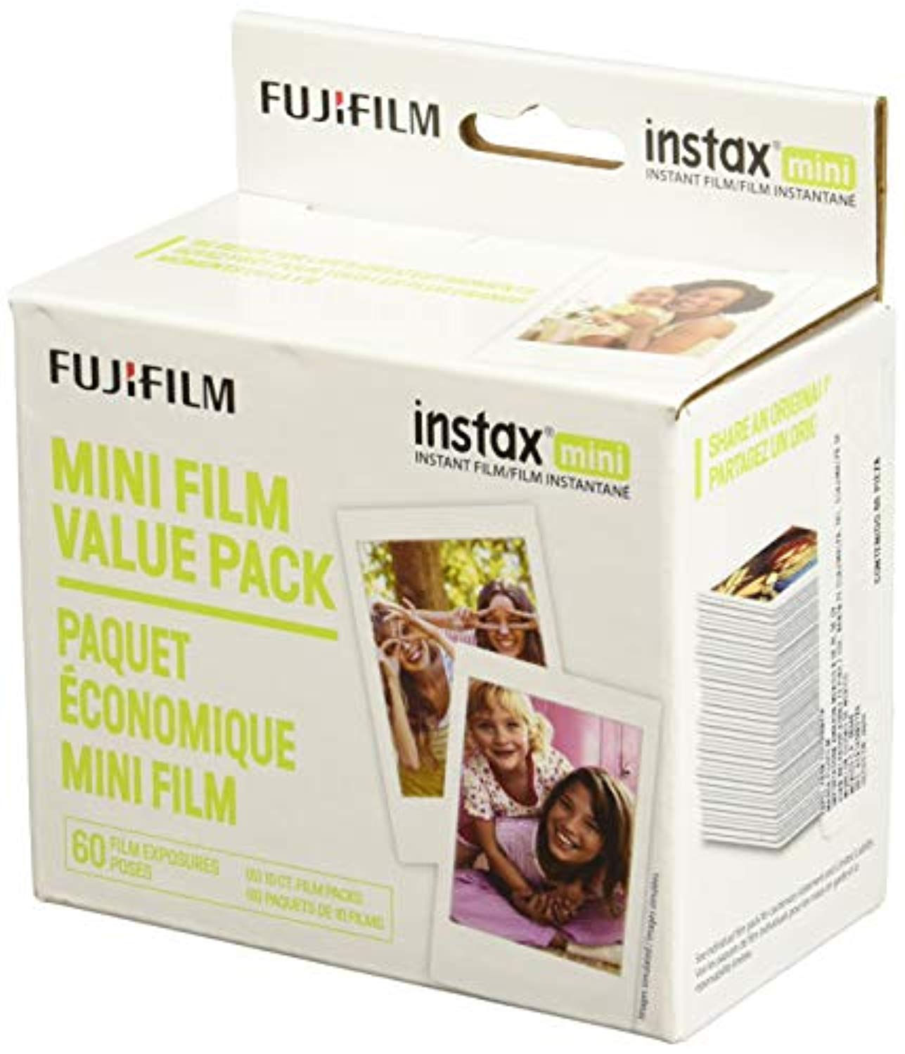 Fujifilm Instax Mini Instant Film Value Pack - (3 Twin Packs, 60 Total Pictures)(Package may vary) - Ufumbuzi - Home
