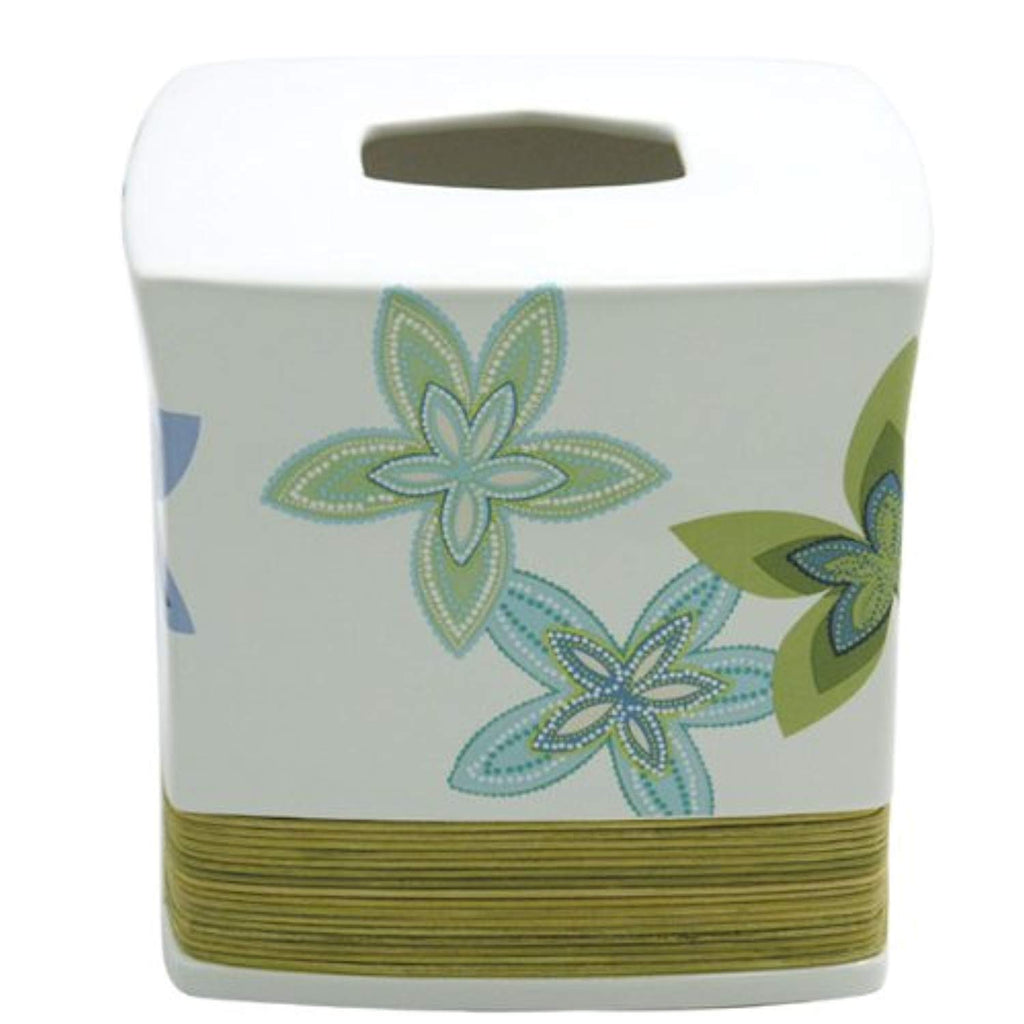 African Floral Tissue Box (6Lx6Wx6H)