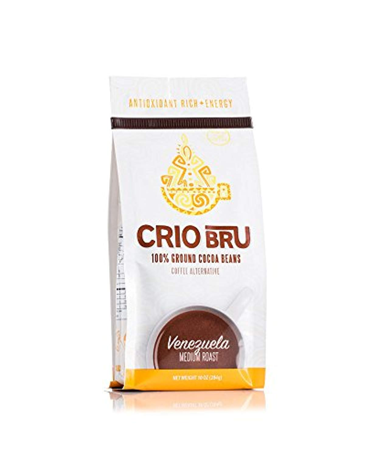 Crio Bru Venezuela Medium Roast Herbal Tea Coffee Alternative Substitute 99% Caffeine Free Whole-30 Gluten Free Honest Low Calorie Energy Boost (10oz) - Ufumbuzi - Home