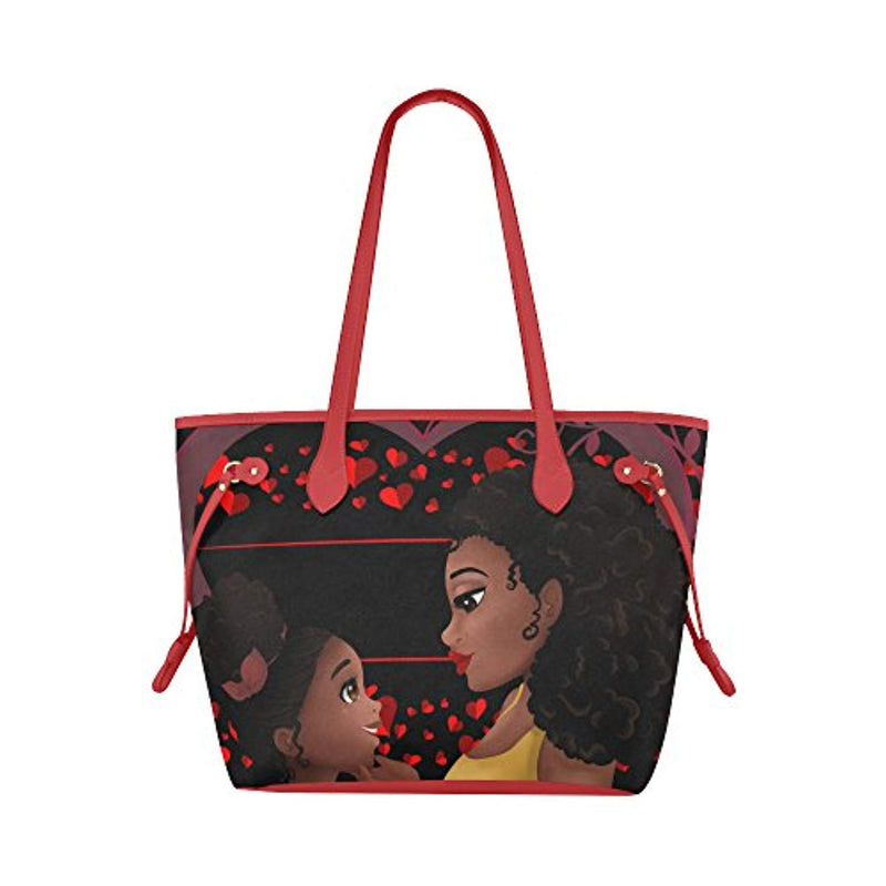 BrownKidSwagCom:Canvas Tote Bag African American Women Girls Travel Books & Laptop - Ufumbuzi - Home