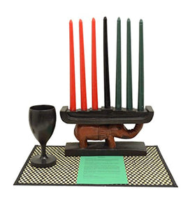 African Heritage Collection Kwanzaa Elephant Celebration Set - Handmade in Ghana