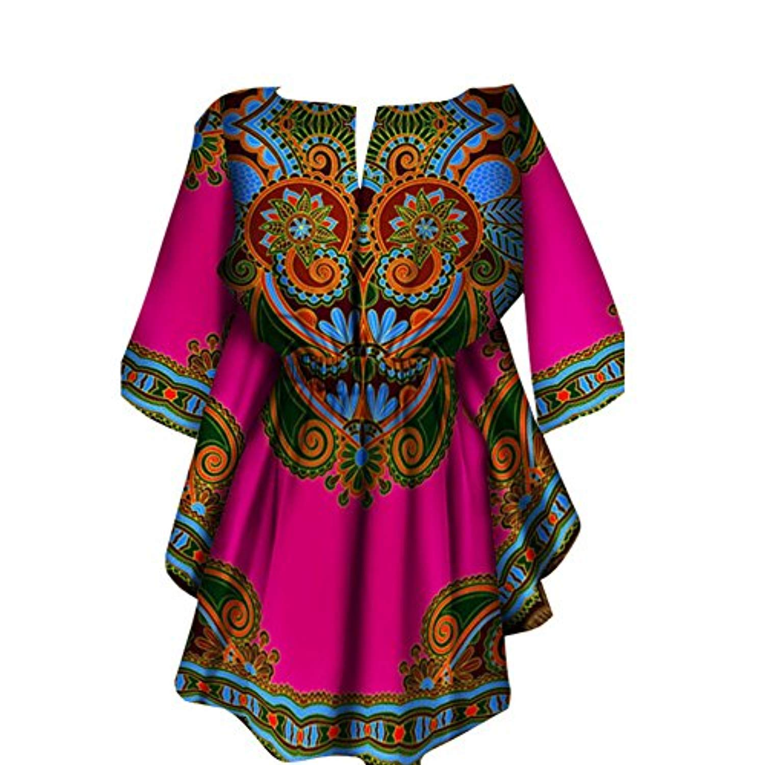 Inorin Womens African Dresses Dashiki High Low Prom High Waisted 3/4 Sleeve Printed Summer Spring Party Dresses - Ufumbuzi - Home