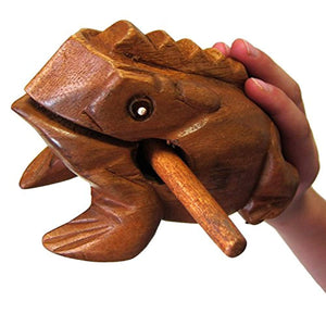 "World Percussion USA FR06N Large 6"" Wood Frog Guiro Rasp, Tone Block - Ufumbuzi - Home"