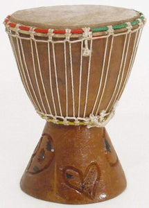 "7"" Extra Small Authentic Handmade Djembe Drum - Traditional African Musical Instrument"