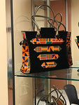 African Kente Multi Coloured Fabric Handbag/With Braided Loop Handle - Ufumbuzi - Home