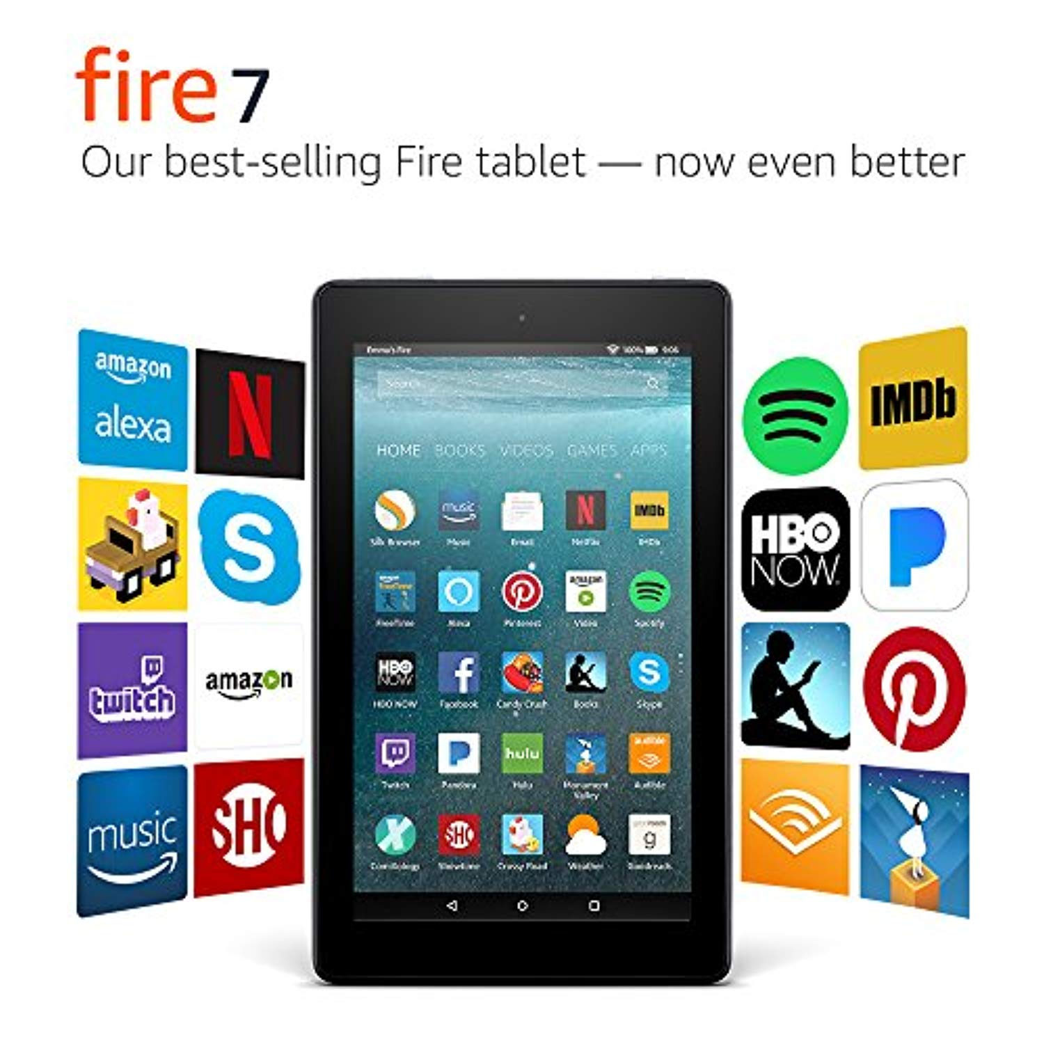 "Fire 7 Tablet with Alexa, 7"" Display, 8 GB, Black - with Special Offers"