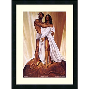 Framed Art Print, Power of Love' by Wak - Kevin A. Williams: Outer Size 18 x 24 - Ufumbuzi - Home