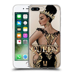 Head Case Designs Unbreakable Woman Gold Queens Soft Gel Case for Apple iPhone 7 Plus/iPhone 8 Plus