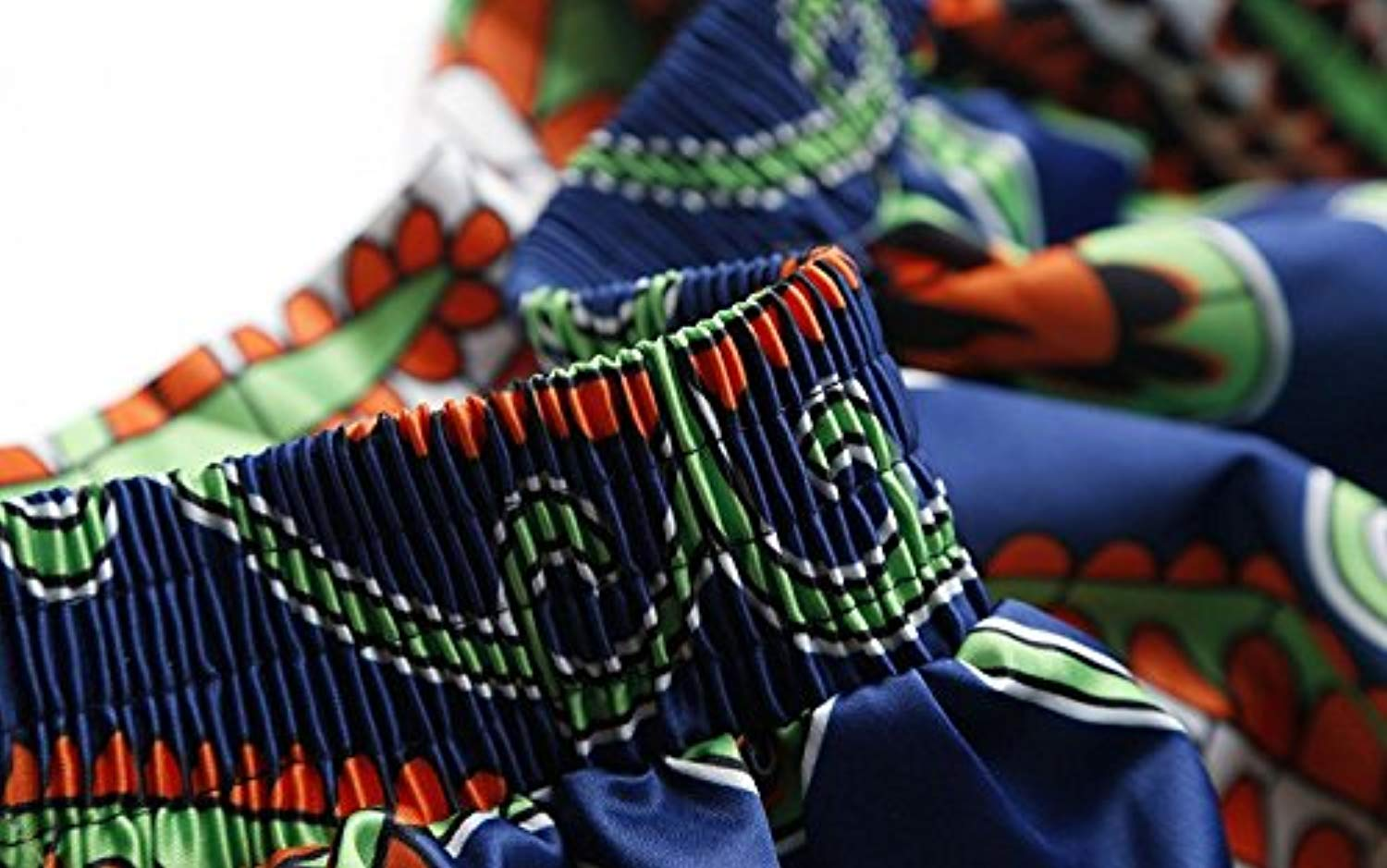 Women's Casual African Print Dashiki Maxi Long Skirts A Line Dress with Pocket - Ufumbuzi - Home