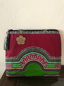 Dashiki Handbag/African Fabric Handbag/Red Dashiki/Ladies Purse - Ufumbuzi - Home