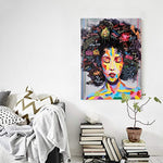 FREE CLOUD Crescent Art Black Art African American Wall Art For Living Room, Original Design Painting on Canvas Print (A, 16 x 20 inch) - Ufumbuzi - Home