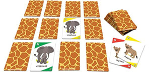 Animal Safari 3-in-1: GO FISH and Old Maid Card Game